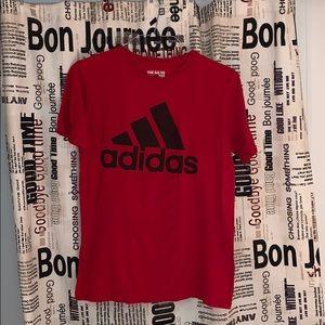 Adidas Mens Red Short Sleeve T Shirt